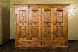 Voglauer Anno 1600 Farmhouse Wardrobe Bedroom Wardrobe Antique Style