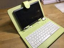 """Light Apple Green/White USB Keyboard Case/Stand for 7"""" Samsung Galaxy Tab Tablet"""