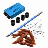 28pcs Pocket Hole Jig 15° Woodworking Guide Oblique Drill Angle Hole Locator