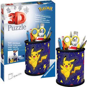 Pokemon Puzzle Ravensburger Puzzles 3D 54 pièces POT A CRAYONS Neuf