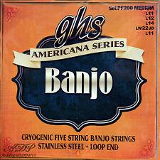 Cordes GHS 5 Strings Banjo Medium American S.AcierInox Boucle-LoopEnd Close-out