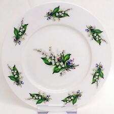 "Lily of the Valley Plates Set of 4 Fine Bone China 8"" 20 cm Plates Decorated UK"