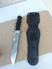 New listing NAVY KNIFE AQUA LUNG US DIVERS SCUBA DIVING SURVIVAL STAINLESS STEEL JAPAN
