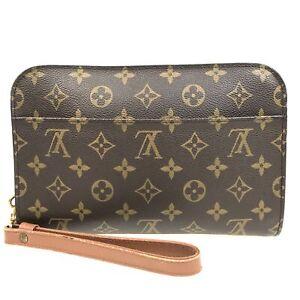 100% Authentic Louis Vuitton Monogram Orsay Second Bag M51790 [Used] {07-0093}