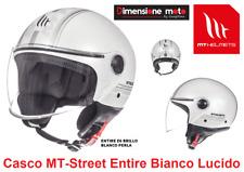 Casco JET con Visiera MT Street-EntireE6 Bianco/Argento Lucido Taglia M 57/58 cm