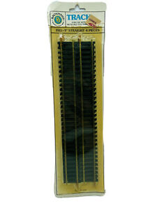 """HO SCALE BRASS 9"""" STRAIGHT TRACK 4 Pieces  1511 BACHMANN New Old Stock"""