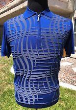 Rossini Polo Shirt W/Zipper Best Royal Blue Size 42US 52EU Zipper Polo