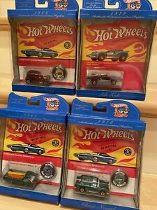 Lot Of 4-1997 Hot Wheels 30th Anniversary Classic Commemorative Special Edition