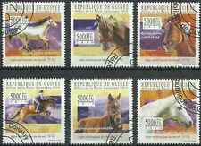 Timbres Chevaux Guinée 5170/5 o année 2010 lot 21440 - cote : 15 €