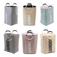 Quality Portable Hamper Iinen Folding Clothes Storage Basket Laundry Washing Bag