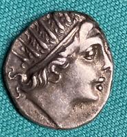 Circa 88-84 BC Carian Islands Rhodes AR Drachm XF