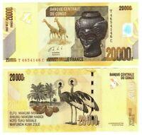 CONGO (DRC) 20000 Francs (2013) P-104 UNC Banknote Paper Money Prefix T/C