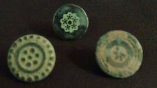 3 SMALL ANTIQUE BUTTON CENTURY XVIII OLD BOUTON BUTTON BOTON SEE MY SHOP CCB16