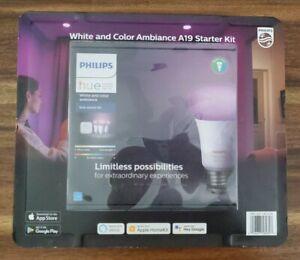 Philips Hue Kit with 3 White & Color Smart LED Bulbs and Hue Bridge