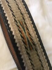 Vintage Montana Prison Made Horsehair And Leather Belt