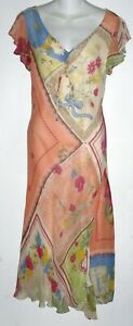 RENE DERHY bohemian dreamy dress lightly beaded made in India Sz M