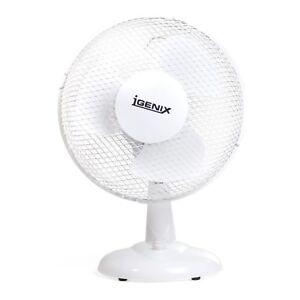 Igenix DF9010 Desk Fan, 2-Speed Fan, 9 Inch - White