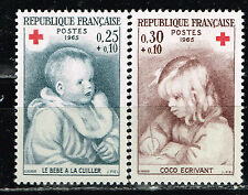 France Arts Famous Paintings Infants Red Cross set 1965 MNH
