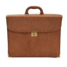 LEDER Aktentasche Briefcase Satteltan Saddle Tan Leather Shabby Chic Business
