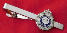 AUSTRALIAN FEDERAL POLICE TIEBAR ENAMEL AND NICKEL SILVER 25MM HIGH SOCIAL ITEM