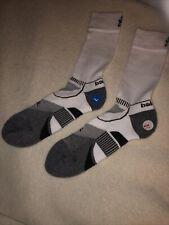 Pr.Balega Ultralight Arch Support Running Socks - White Crew - Size L