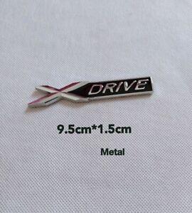 Logo Embleme XDRIVE Chrome Métal Porte Capot Aile x drive