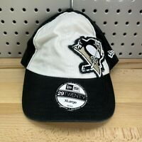 Pittsburgh Penguins NHL New Era 29TWENTY Size XL Flex Fit Hat White & Black READ