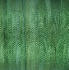 4mm Silk Ribbon 100% Pure Embroidery Green Hand Dyed Dark Spring Green - 3 mtr