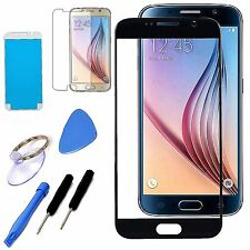 Black Replacement Screen Front Glass Lens Repair Kit For Samsung Galaxy S6 G920