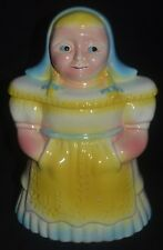 RRP Co. DUTCH GIRL COOKIE JAR Robinson-Ransbottom Roseville Ohio Ceramic Pottery