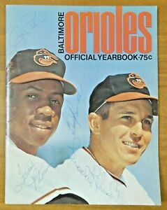 1968 Signed Baltimore Orioles Yearbook Palmer F. Robinson B. Robinson B. Powell