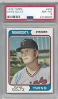 1974 Topps baseball card #636 Dave Goltz, Minnesota Twins graded PSA 8 NMMT