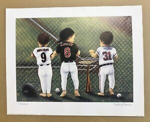Matt Williams, Cal Ripken Jr, Greg Maddux 20 x16 Baseball Animated Baby Print