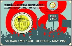 2 Euro Gedenkmünze Belgien 2018-50. Jahrestag der Studentenrevolte vom 1968 - NL