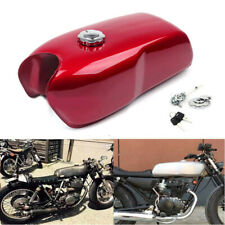 9L / 2.4Gal Vintage Motorcycle Bikes Cafe Racer Seat Fuel Gas Tank & Cap Switch