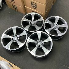 """Ex Display 18"""" Audi RS3 Rotor Style Alloy Wheels Satin Grey - Audi A3 + more"""