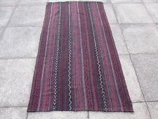 Old Tribal Nomadic Hand Made Persian Oriental Red Wool Jajim Kilim 193x107cm