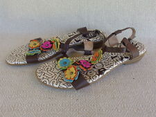 Bliver Brown Leather Sandals Women's Size 42