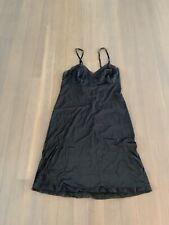Vintage Black Slip/nightgown W Lace Sz L