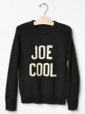Gap Kids Peanuts JOE COOL Sweater Boys Size XS 4-5 Black nwt SOLD OUT