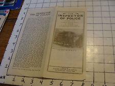 Original MOVIE paper: 1913 THE POLICE INSPECTOR flyer