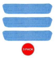 3 Blue Microfiber Wet Mop Pads Refill Fits Starfiber, Bona, Libman, Scoth-Brite