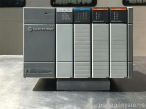 Allen Bradley SLC 5/01 PLC -4-Slot Rack w/Modules 1747-L511  Ser. B