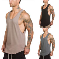 Mens Gym Sleeveless Vest Bodybuilding Tank Top Muscle Stringer T-Shirt Tee Shirt