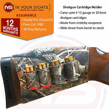 Realtree style camo shotgun cartridge butt stock carrier / Shotgun shell holder