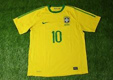 BRAZIL NATIONAL TEAM # 10 2010/2011 FOOTBALL SHIRT JERSEY HOME NIKE ORIGINAL