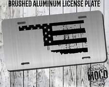 Oklahoma Distressed Flag License Plate