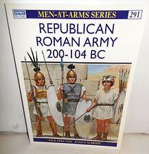 BOOK OSPREY MAA 291 Men-At-Arms Republican Roman Army 200-104 BC 1997 Ed
