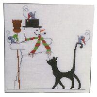 Imaginating Cross Stitch Chart Snow Fun SG-20 Silly Snobs Designs Cat Snowman