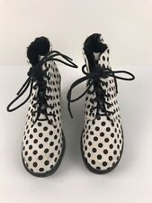 Boohoo Ankle Boots Polka Dots Size 37 Lace Up